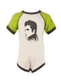 body bebè rock bambino Elvis Green/White - Dyno Organic 100%