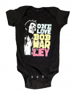 body bebè rock bambino Bob Marley Smile Love