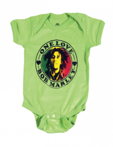 body bebè rock bambino Bob Marley One Love Lime