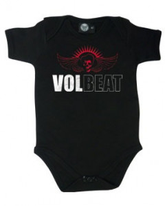 body bebè rock bambino Volbeat Skullwing