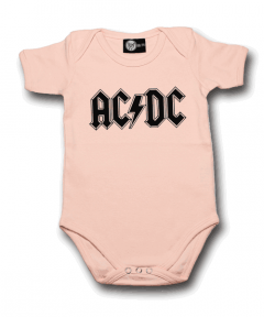 body bebè rock bambino AC/DC Logo Pink