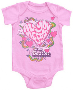 body bebè rock bambino Beatles All You Need Is Love Pink