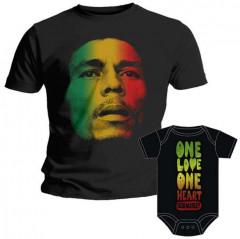 Duo Rockset t-shirt per papà Bob Marley e body bebè rock bambino Bob Marley