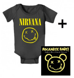 Idea regalo body bebè rock bambino Nirvana Smiley & Rockabye Baby Nirvana