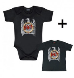 Idea regalo body bebè rock bambino Slayer Silver Eagle & Slayer t-shirt bebè