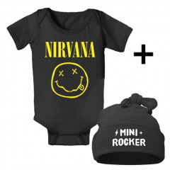 Idea regalo Body bebè Nirvana & Mini Rocker Cappello