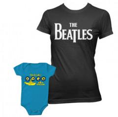 Duo Rockset t-shirt The Beatles per la mamma e body The Beatles Portholes per il bebè