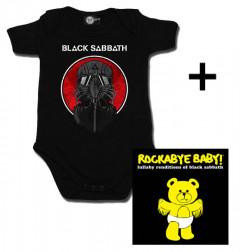 Idea regalo body bebè rock bambino Black Sabbath 2014 & Rockabye Baby Black Sabbath