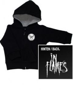 Maglia per bambini con cerniera/cappuccio In Flames Logo (Print On Demand)