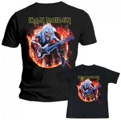 Duo Rockset t-shirt per papà Iron Maiden e Iron Maiden t-shirt bebè