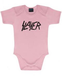 body bebè rock bambino Slayer Logo Pink