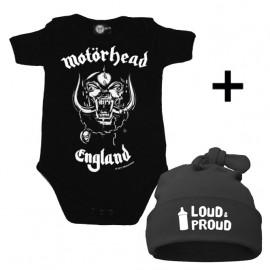 Idea regalo Body bebè Motörhead & Loud & Proud Cappello