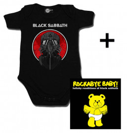 Idea regalo body bebè rock bambino Black Sabbath 2014 & Rockabye Baby Black Sabbath