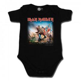 body bebè rock bambino Iron Maiden Trooper