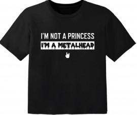 T-shirt Bambino Metal I'm not a princess I'm a metalhead