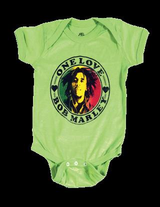 body bebè rock bambino Bob Marley One Love Lime