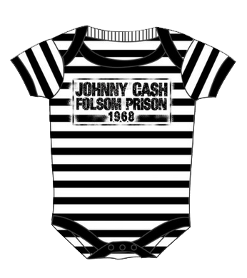 body bebè rock bambino Johnny Cash Folsom Stripes