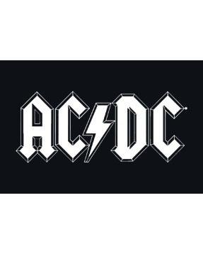 Bavaglino AC/DC – Logo white