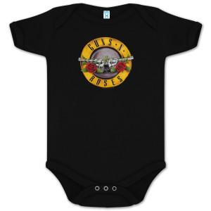 body bebè rock bambino Guns and Roses Bullet
