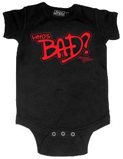 Michael Jackson baby romper Who's Bad