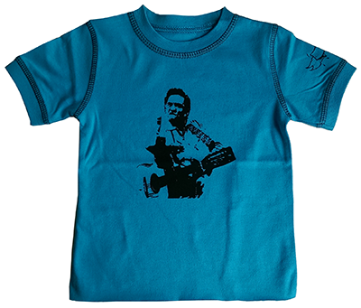 T-shirt bambini Johnny Cash Blue eco vintage - Dyno Organic 100%