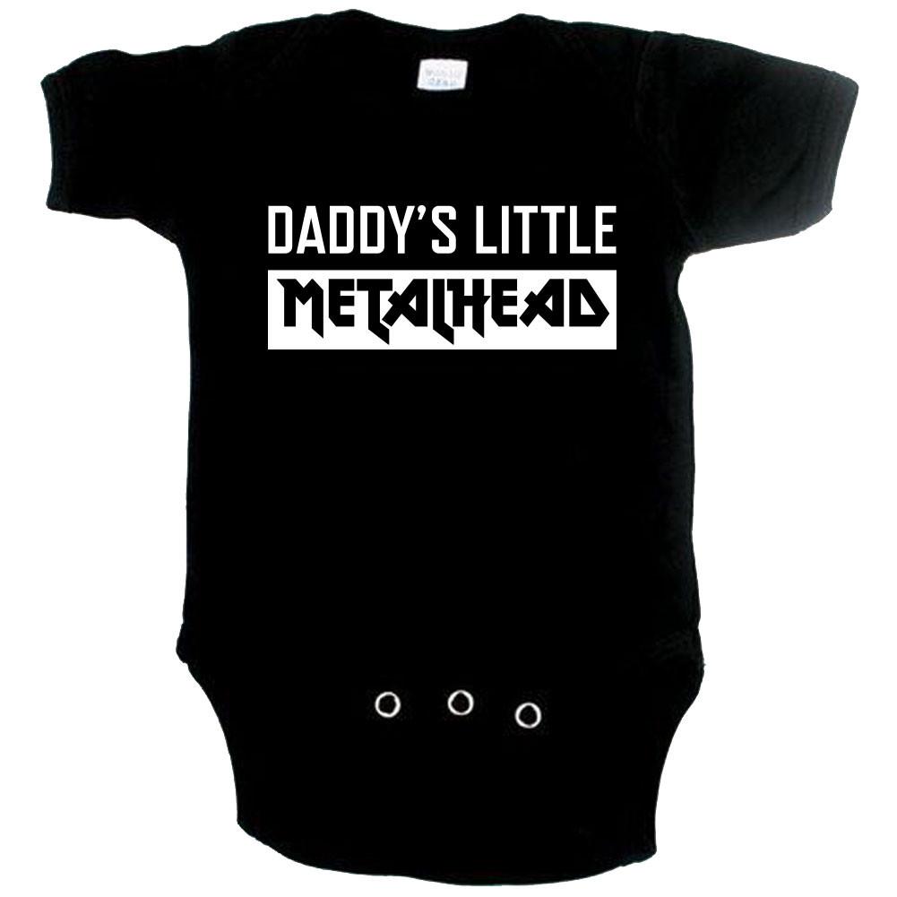 Body bebè Metal daddys little metal head