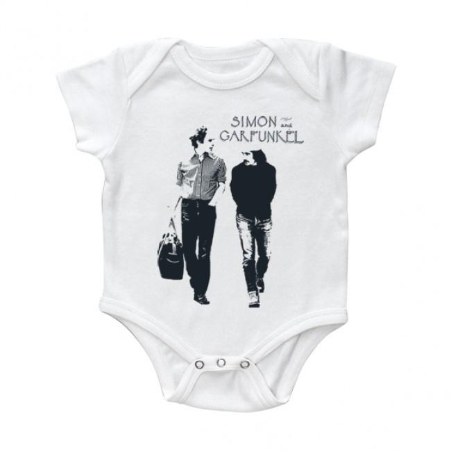 Body bebé Simon and Garfunkel Walking White