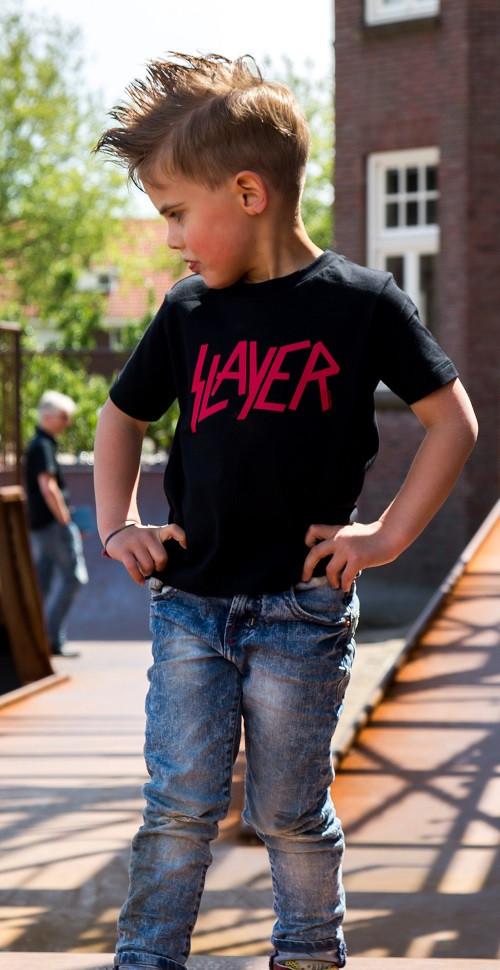Slayer Kids T-shirt Logo Red photoshoot