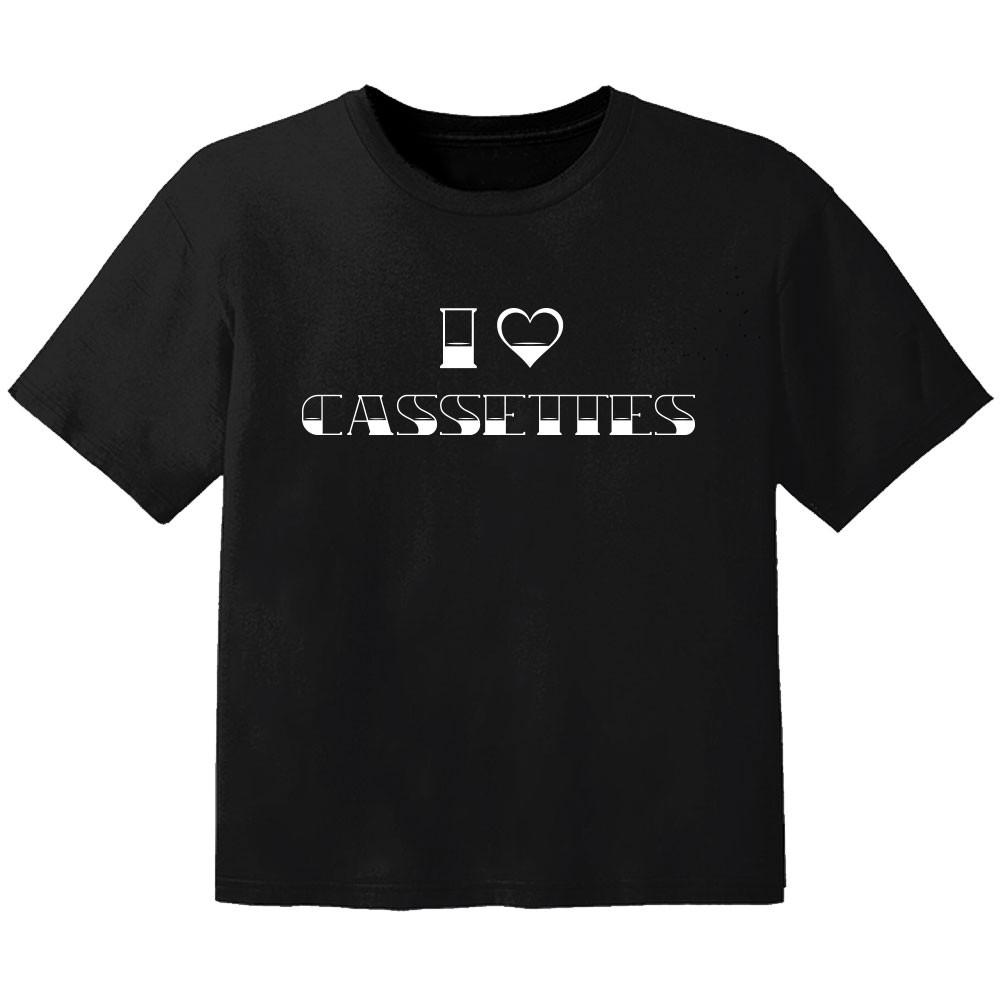T-shirt Bambino Cool I love cassetes
