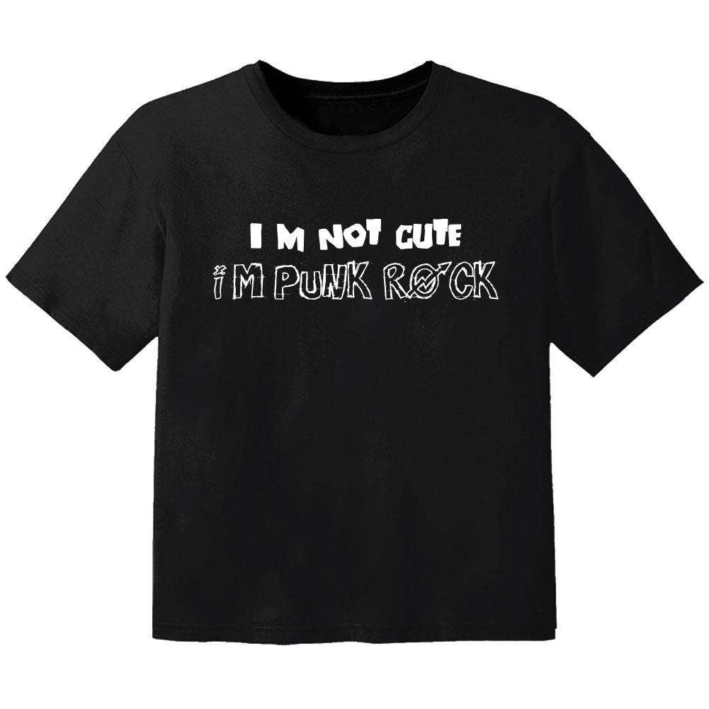 T-shirt Bambino Rock im not cute im punk rock