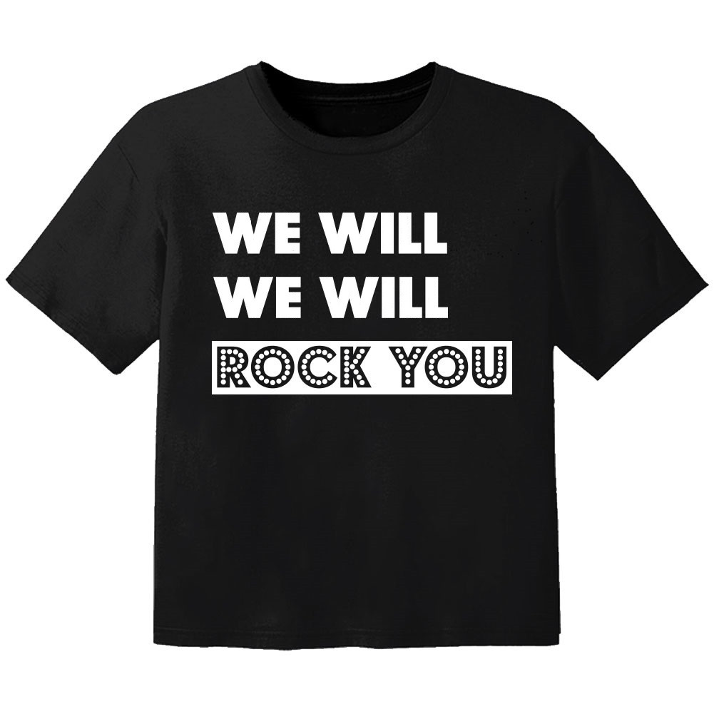T-shirt Bambini Rock we will we will rock you