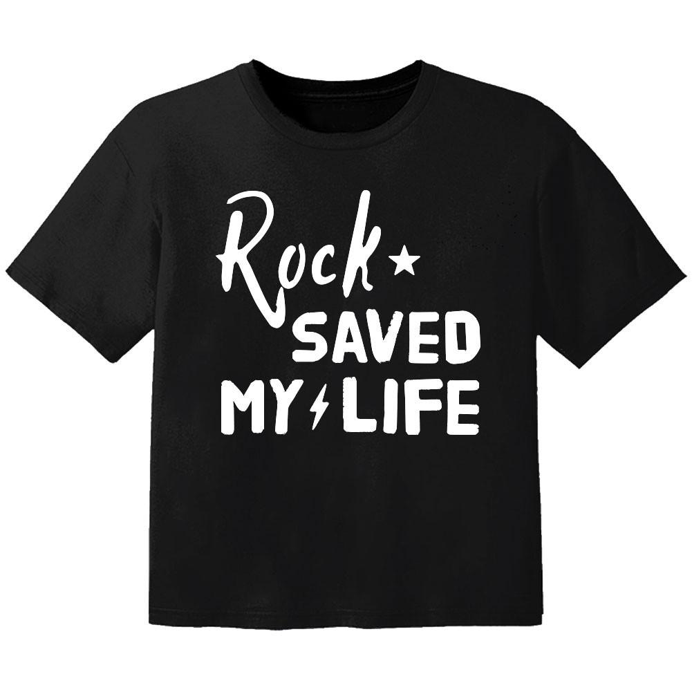 T-shirt Bambini Rock rock saved my life