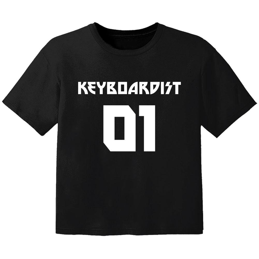 T-shirt Bambini Rock keyboardist 01