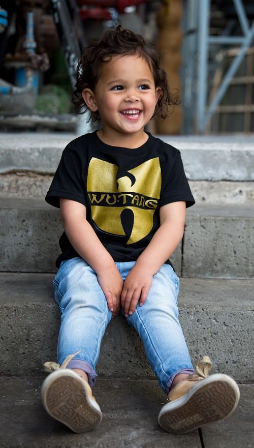 Wu-tang Clan kinder T-shirt Logo photoshoot