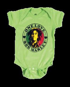 Body bebè Bob Marley One Love Lime