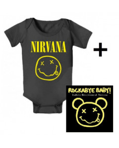 Idea regalo Body bebè Nirvana Smiley & Rockabye Baby Nirvana