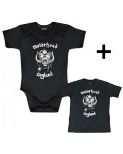 Idea regalo Body bebè Motörhead England & Motörhead England t-shirt bebè