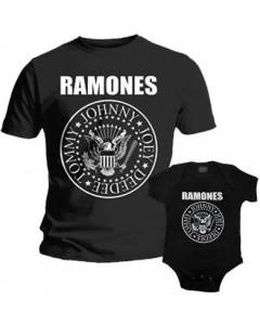 Duo Rockset t-shirt per papà Ramones e Body bebè Ramones