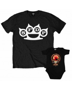 Duo Rockset t-shirt per papà Five Finger Death Punch e Body bebè Five Finger Death Punch