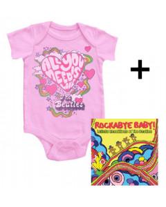 Idea regalo Body bebè Beatles All You Need Is Love & Rockabye Baby The Beatles