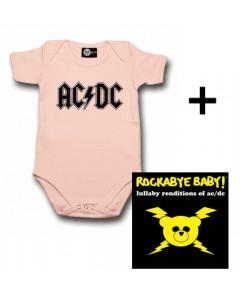 Idea regalo Body bebè AC/DC Logo Pink & Rockabye Baby AC/DC