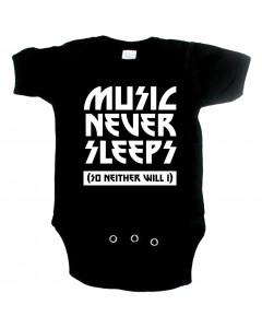 Body bebè Cool music never sleeps so neither will I