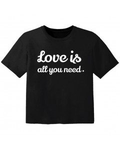 T-shirt Bambino Cool love is all you need