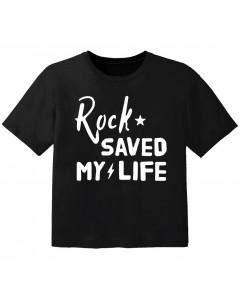 T-shirt Bambino Rock rock saved my life