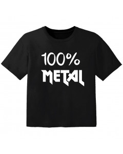 T-shirt Bambino Metal 100% metal